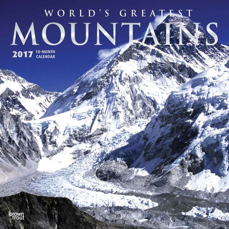 Calendário 2017 Mountains - Worlds Greatest