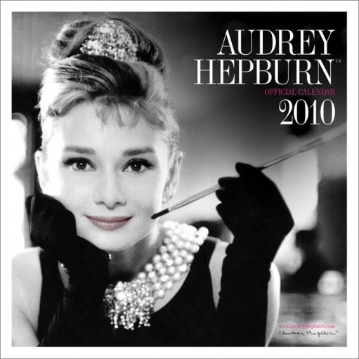 Calendário Official Calendar 2010 Audrey Hepburn