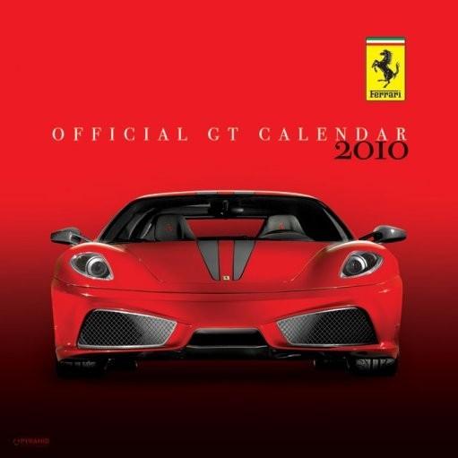 Calendário 2018 Official Calendar 2010 Ferrari GT