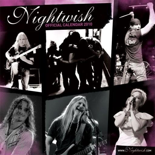 Calendário 2017 Official Calendar 2010 Nightwish