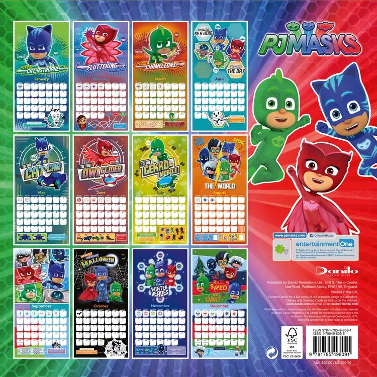 Calendario Liga Nos 2020.Calendario 2020 Pj Masks