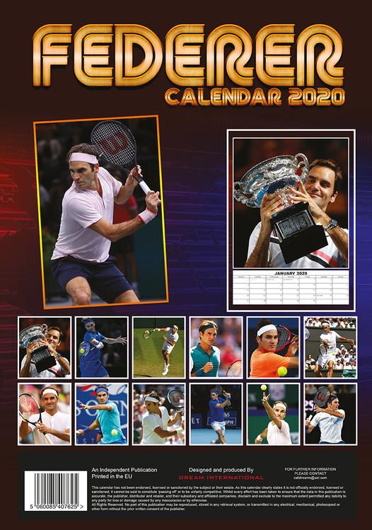 Athletic Calendario 2020.Calendario 2020 Roger Federer