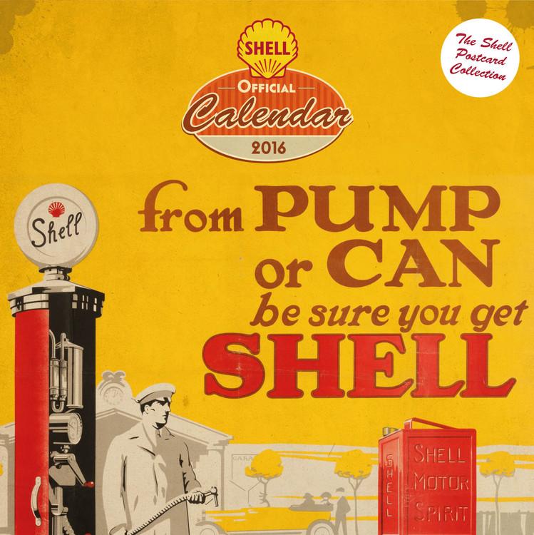 Calendário Shell - Retro