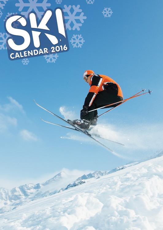 Calendário 2017 Skiing