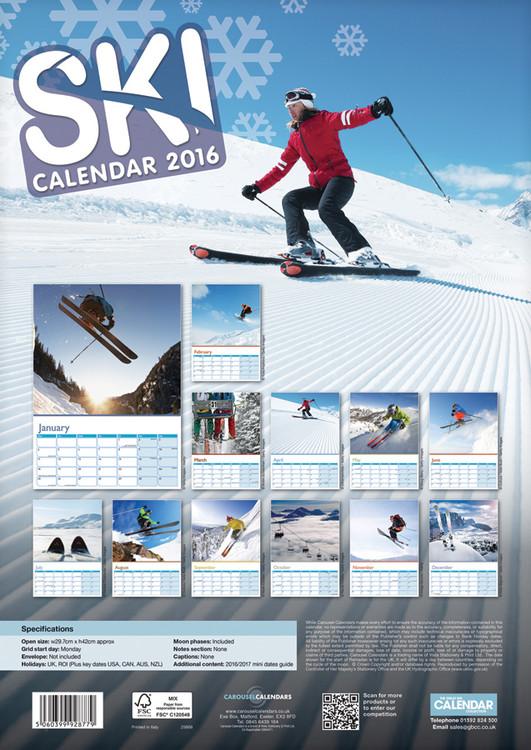 Calendário 2018  Skiing