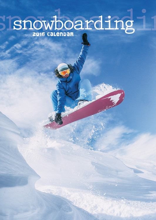Calendário 2018 Snowboarding