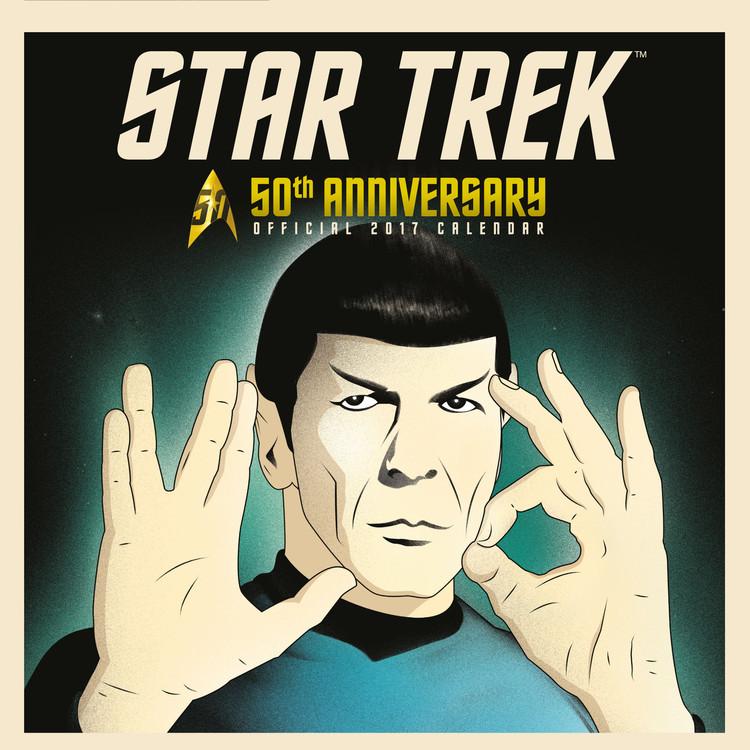 Calendário 2018 Star Trek: 50th anniversary