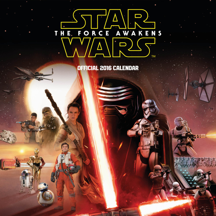 Calendário 2017 Star Wars Episode VII: The Force Awakens