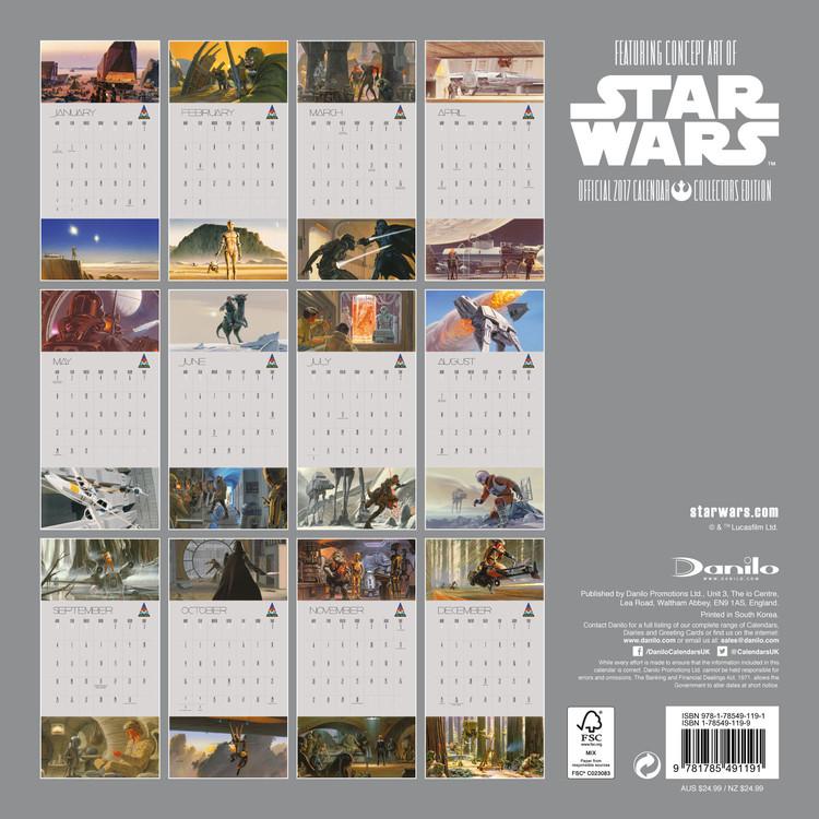 Calendário 2018 Star Wars