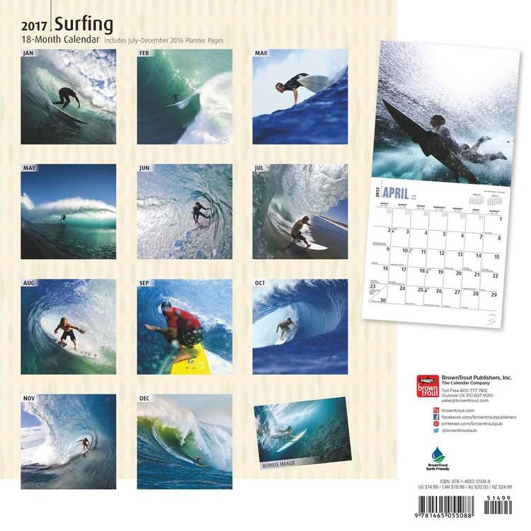 Calendário 2018 Surfing