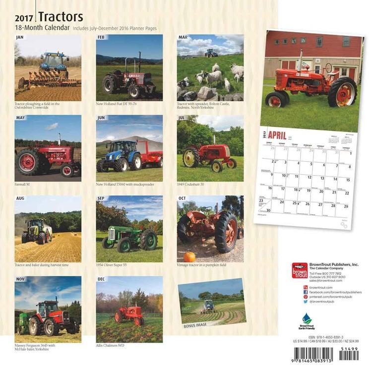 Calendário 2018 Tractors