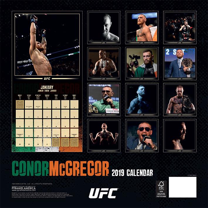 Calendario Ufc 2020.Calendario 2020 Ufc Conor Mcgregor
