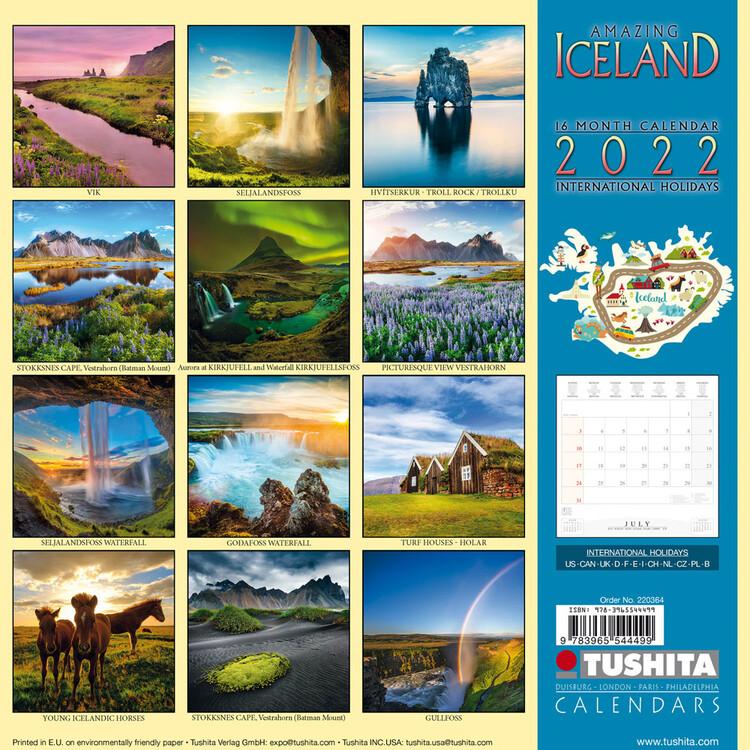 Calendar 2022 Amazing Iceland