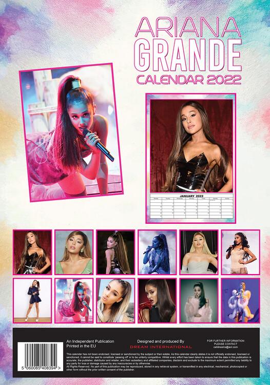 Calendar 2022 Ariana Grande