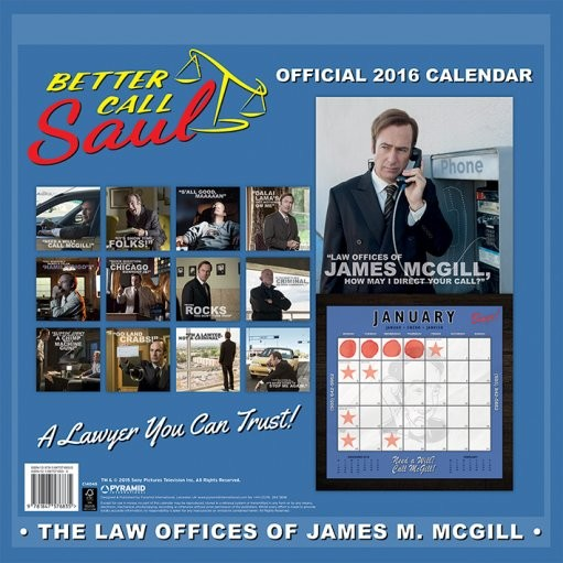 Calendar 2016 Better Call Saul - Breaking Bad