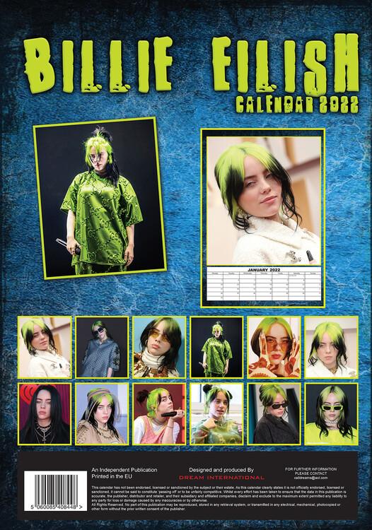 Calendar 2022 Billie Eilish