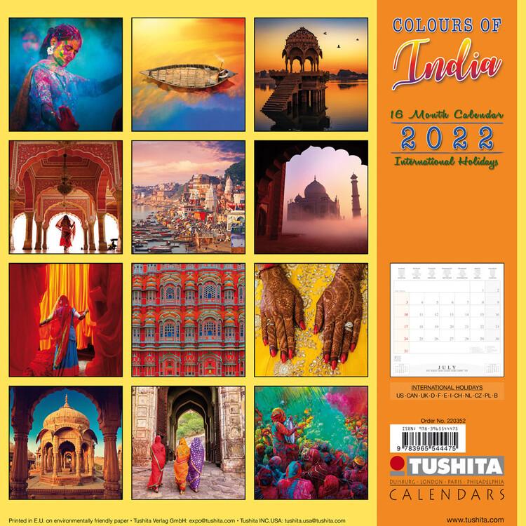 Calendar 2022 Colors of India