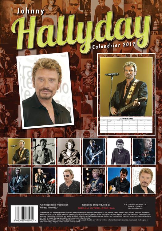 Calendrier Johnny Hallyday 2022 La Poste Johnny Hallyday   Wall Calendars 2022   Large selection