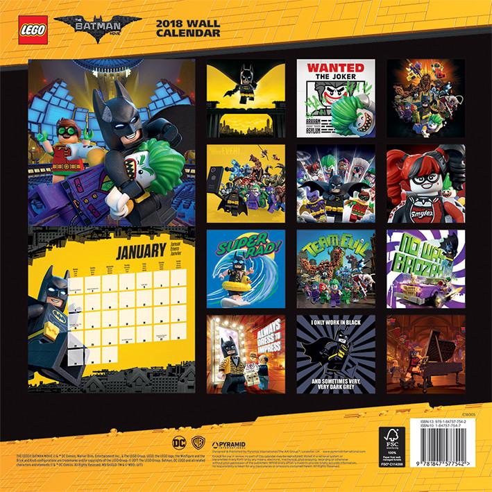 Calendrier Lego 2022 Lego Batman   Wall Calendars 2022 | Large selection