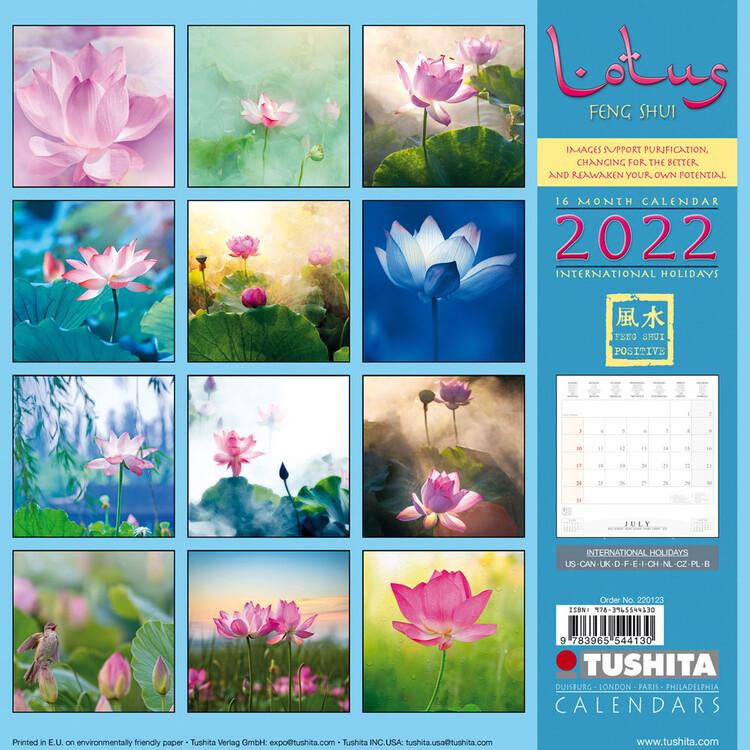 Calendar 2022 Lotus Feng Shui