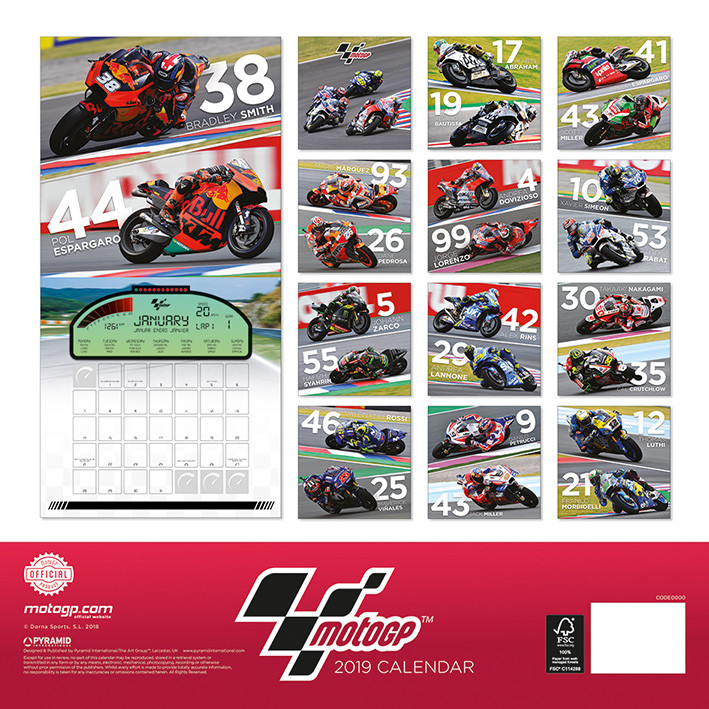 Calendrier 2022 Motogp Moto GP   Wall Calendars 2019 | Large selection