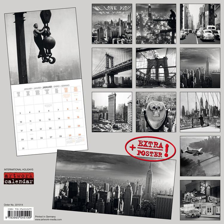 Calendar 2022 New York Retro