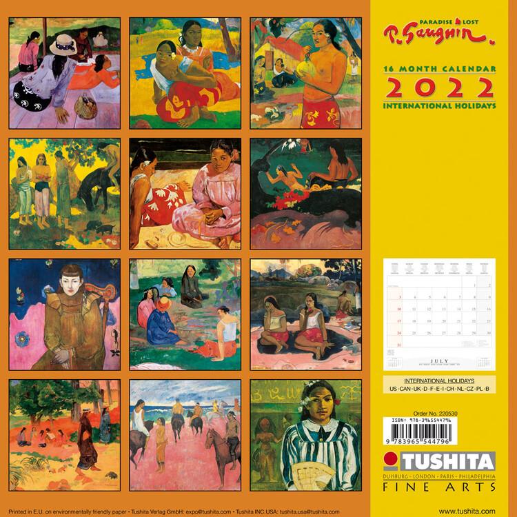 Calendar 2022 Paul Gaugin - Paradise Lost