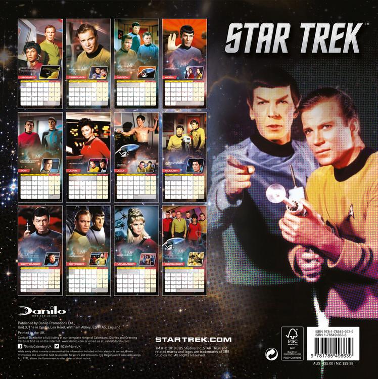 Calendrier Serie Us 2022 Star Trek   Tv Series   Wall Calendars 2022 | Large selection