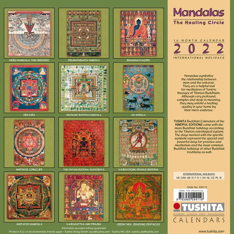 Calendar 2022 The Healing Mandalas
