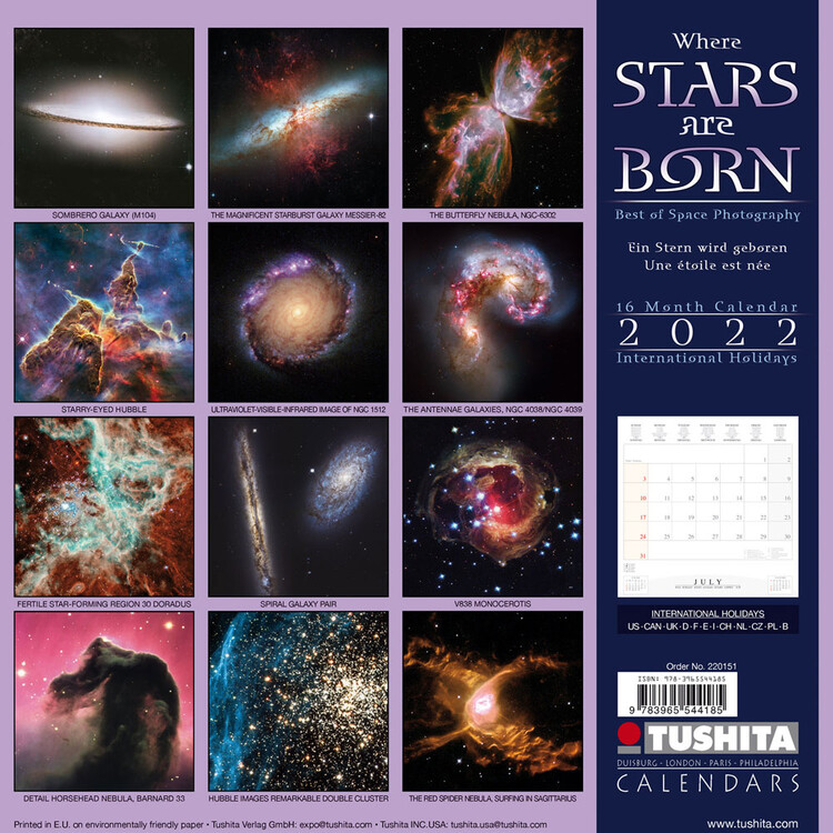 Calendar 2022 Where Stars Are Born