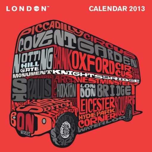 Kalendář 2013 - VISIT LONDON Calendrier 2017