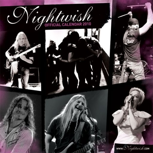 Official Calendar 2010 Nightwish Calendrier 2017