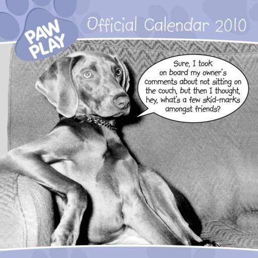 Official Calendar 2010 Paw Play Calendrier 2017
