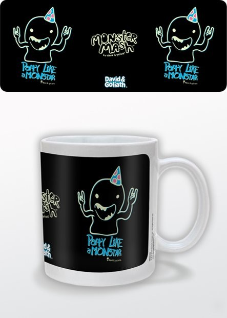 Caneca Humor - Party Like a Monstar, David & Goliath
