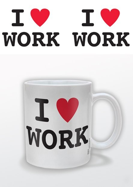 Caneca I (heart) Work – I Love Work
