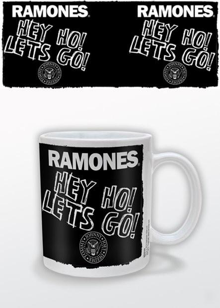 Caneca RAMONES - hey ho lets go
