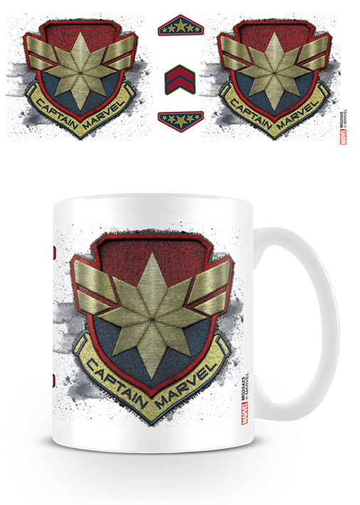 Caneca Captain Marvel - Badge