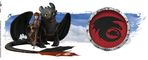 Caneca  Dragons - Toothless and Hiccup