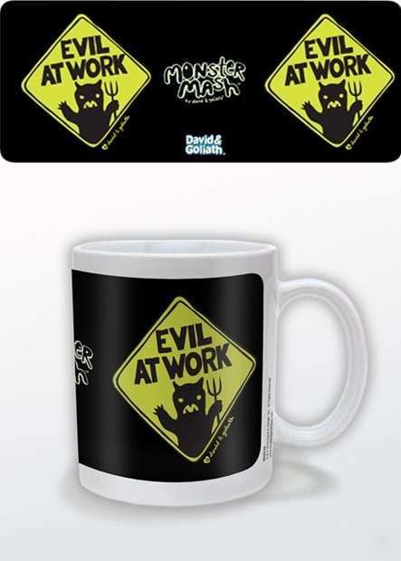 Caneca Humor - Evil at Work, David & Goliath