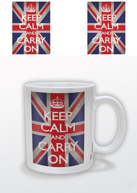 Caneca Keep Calm and Carry On - Union Jack