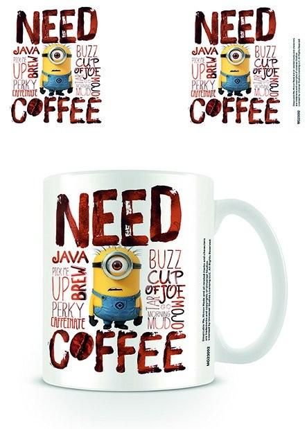 Caneca  Minions - Need Coffee