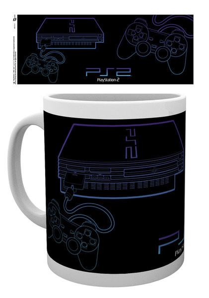 Caneca Playstation - PS2 Lineart