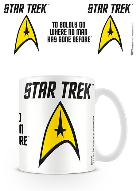 Caneca Star Trek - To Boldly Go