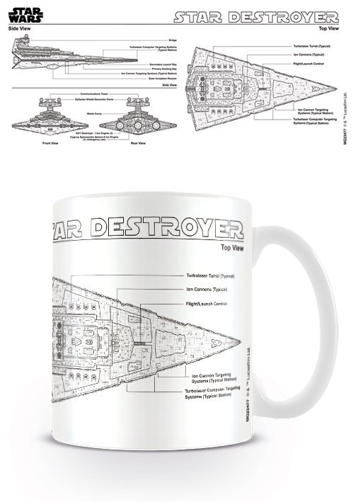 Caneca Star Wars - Star Destroyer Sketch