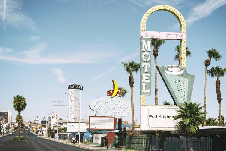 Canvas Print American West - Downtown Vegas