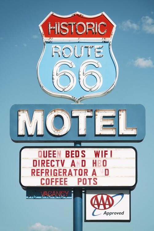 Canvas Print American West - Motel 66