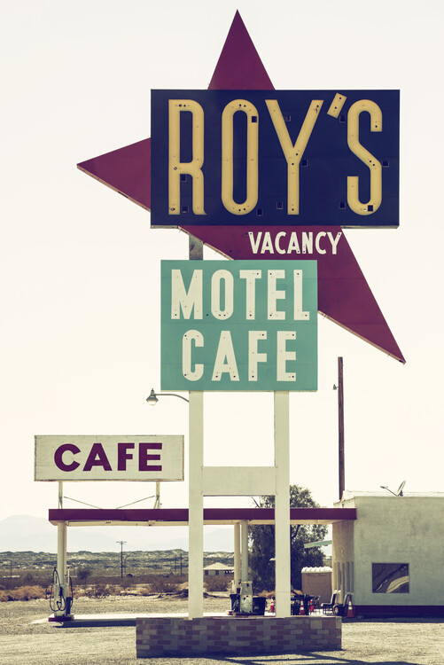 Canvas Print American West - Roy's Motel Cafe