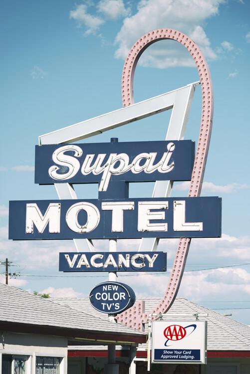 Canvas Print American West - Supai Motel