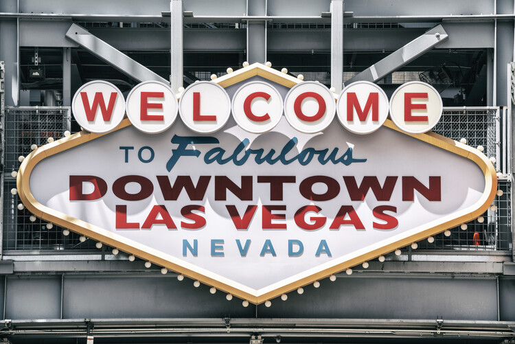 Canvas Print American West - Welcome to Las Vegas