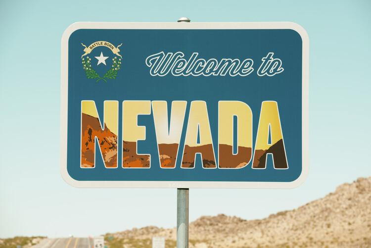Canvas Print American West - Welcome to Nevada